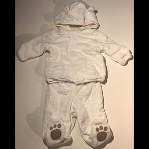 4 for $20. White two piece bear snow suit.